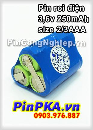 Pin máy chích điện, roi điện để tự vệ 3,6v 2/3AAA 250mAh